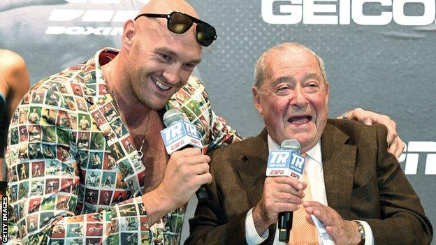 Tyson Fury's And Bob Arum Talks Ticket Impact As Fighter Focuses Home - SurgeZirc NG