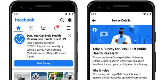 Facebook And Carnegie Mellon Launch Survey To Track Covid-19 - SurgeZirc NG