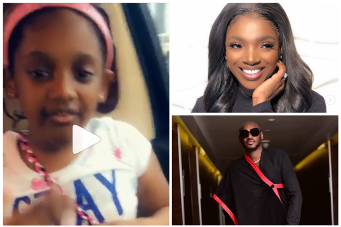 Watch Heart Warming Video Of 2Baba's Daughter Participate In #Dudukechallenge - SurgeZirc NG