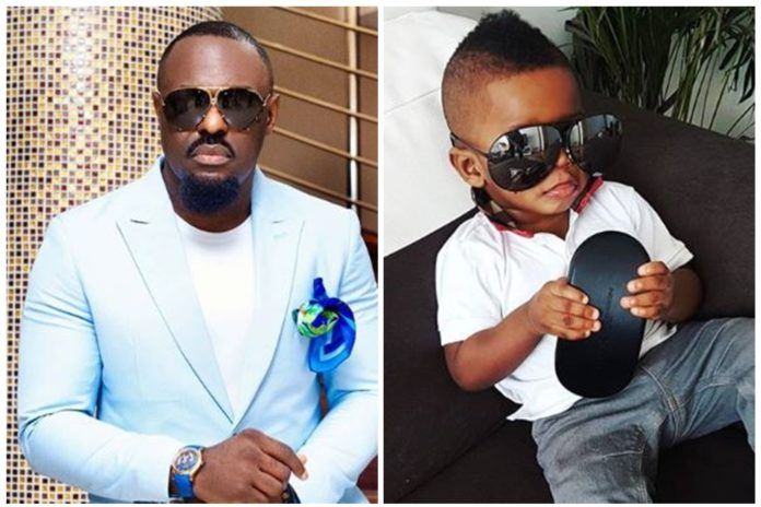 Jim Iyke Struggles As His Son Refuses To Go Home After Shopping