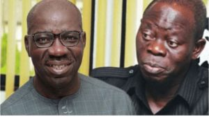 """God Has Taken Out The Snake"": Oshiomhole Vows To Stop Obaseki-SurgeZirc SA"