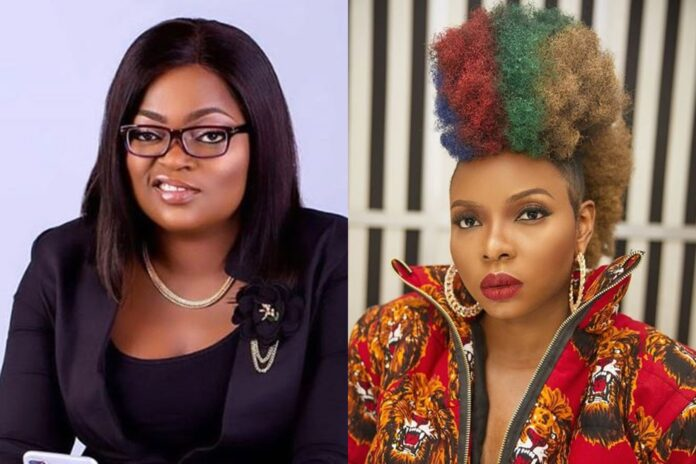 Funke Akindele Dancing With Yemi Alade On Her Birthday Will Leave Your Ribs Cracked
