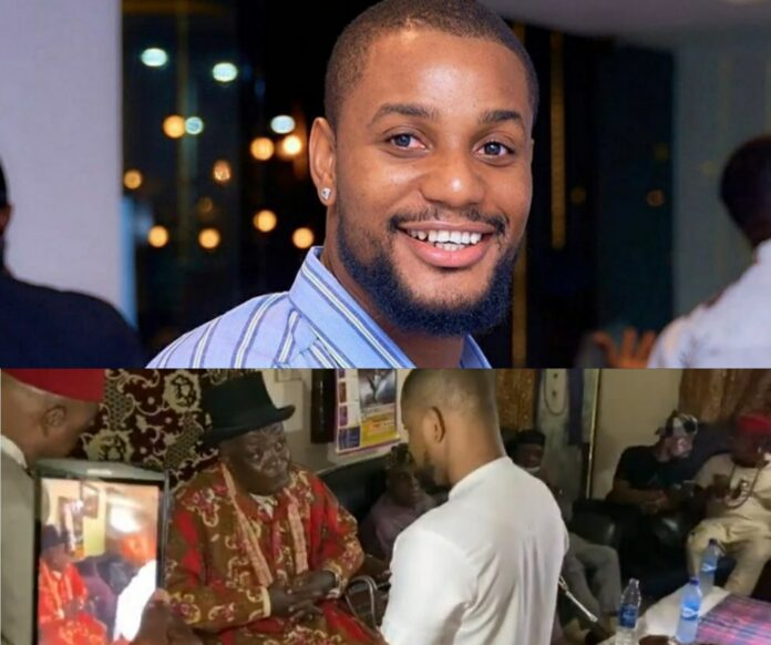Actor Alexx Ekubo Shares Video Honoured With Chieftaincy Title In Imo State