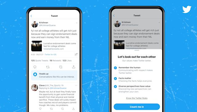 Twitter Is Tests Warnings About 'Intense' Conversations On Android And iOS - SurgeZirc NG